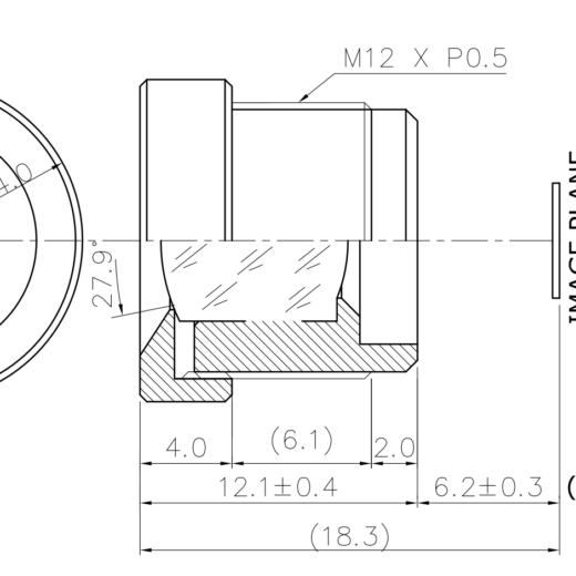 12mm M12x0.5 lens