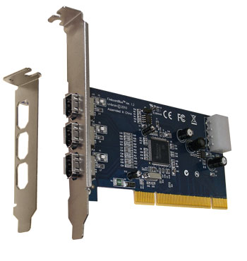 Fireboard-Blue 1394a PCI adapter (bulk) - Unibrain - Your Firewire ...