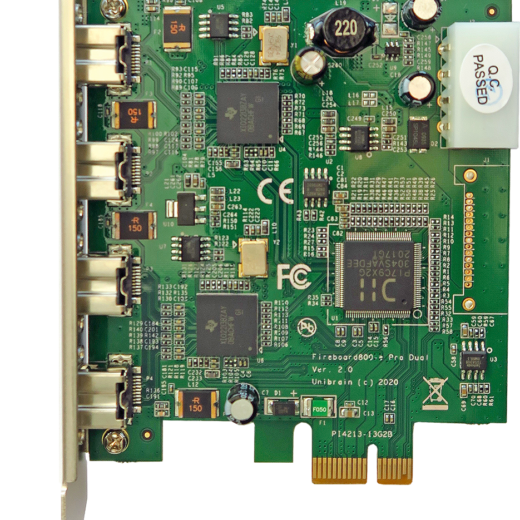 Fireboard800-e Pro Dual Channel, 4 port, 1394b to PCI-e adapter